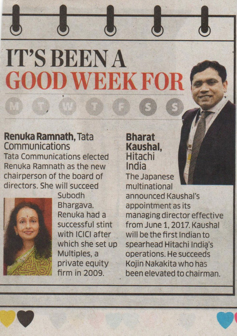 ET Panache covers the appointment of Hitachi India's new MD