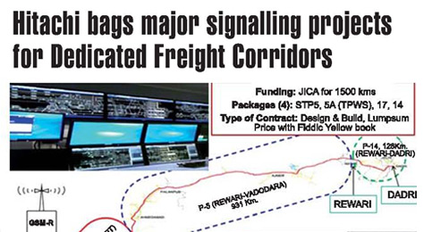 Hitachi bags major signalling projects for dedicated freight corridors