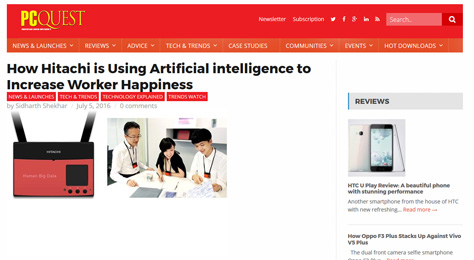 How Hitachi is Using Artificial intelligence to Increase Worker Happiness