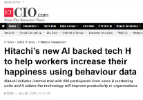 Hitachi's new AI backed tech H to help workers increase their happiness using behaviour data